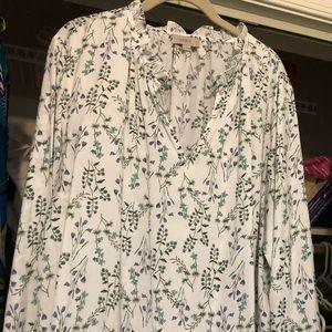 Ann Taylor loft summer blouse, EUC, Size XL
